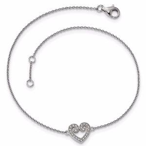 Heart Anklet Sterling Silver